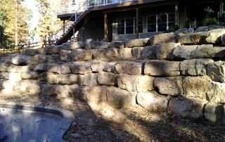Stone Wall Created by our Hardscaping Contractors